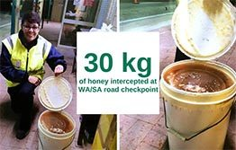 30 kg of honey intercepted at border